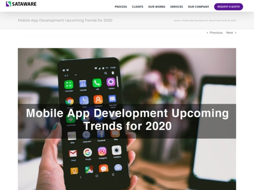 Top 10 Mobile App Development Upcoming Technology Trends for 2020