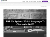 PHP vs Python: Which Language to Choose in 2020?