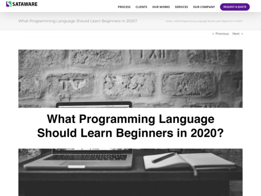 What Programming Language Should Learn Beginners in 2020?