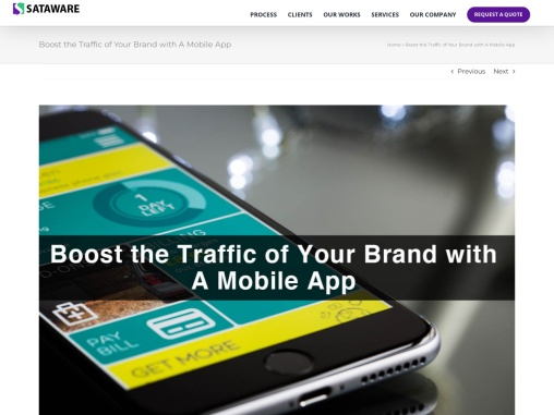 Boost the Traffic of Your Brand with A Mobile App