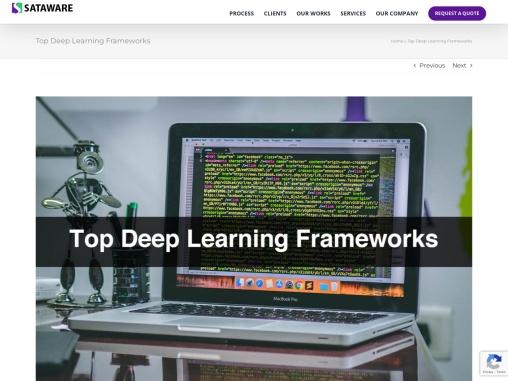 Top Deep Learning Frameworks TensorFlow