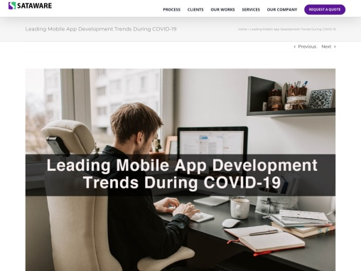 Leading Mobile App Development Trends During COVID-19