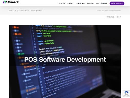 POS Software Development Software components