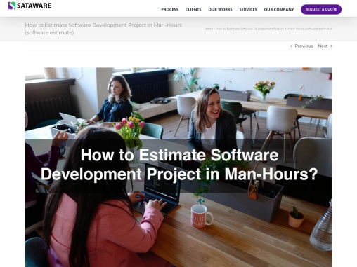 How to Estimate Software Development Project in Man-Hours (software estimate)
