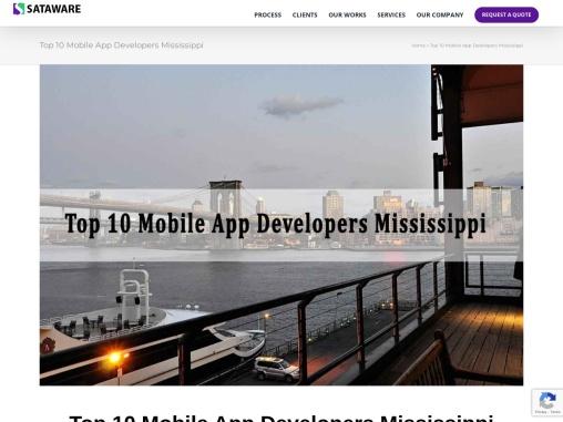 Top 10 Mobile App Developers Mississippi