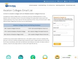 Aviation Colleges Email List   Aviation Colleges Database