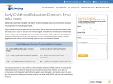 Early Childhood Education Directors Email Addresses