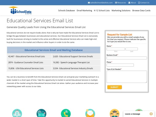 Educational Services Email List | Educational Services Database