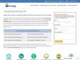 University Email Address List | University Email List
