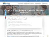 How is K-12 Data Solutions an asset for Education Marketing