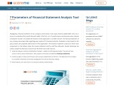 7 Parameters of Financial Statement Analysis Tool
