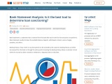 Bank Statement Analysis: Is it the best tool to determine loan sanctioning?