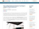 How do Bank Statement Analyser Tool helps in analysis of bank statement?