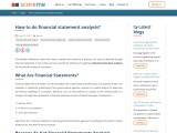 How to do financial statement analysis?