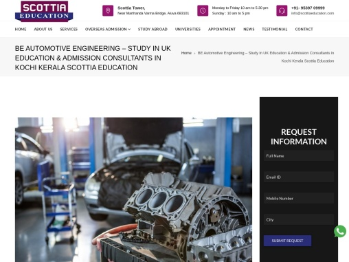 BE Automotive Engineering – Study in UK
