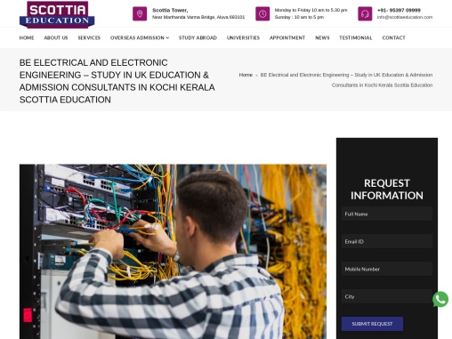 BE Electrical and Electronic Engineering – Study in UK