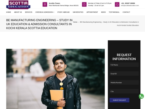 BE Manufacturing Engineering – Study in UK