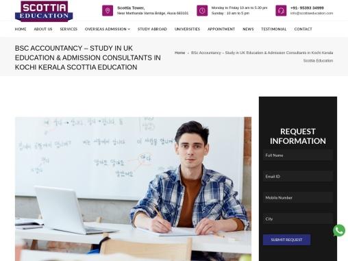 BSc Accountancy – Study in UK – Scottia Education