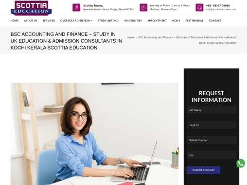 BSc Accounting and Finance – Study in UK