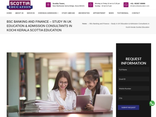 BSc Banking and Finance – Study in UK