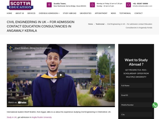 Civil Engineering in UK – For admission contact Education Consultancies in Kochi Kerala
