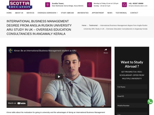 International Business Management degree from Anglia Ruskin University ARU Study in UK