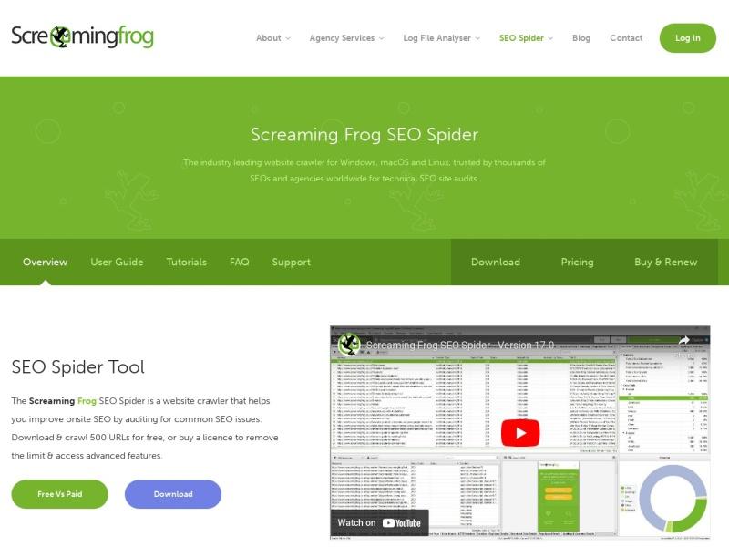 Screaming Frog SEO Spider Tool | ウェブサイトのページ構造やSEO情報を一括で取得できるツール(要インストール)