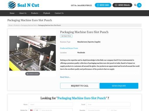 Packaging Machine Euro Slot Punch Manufacturer