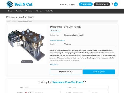 Pneumatic Euro Slot Punch Manufacturer