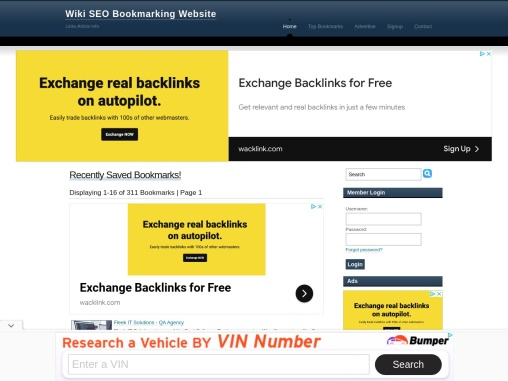Wiki Business article search Online Bookmarking