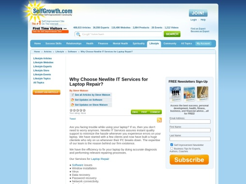 Why Choose Newlite IT Services for Laptop Repair?