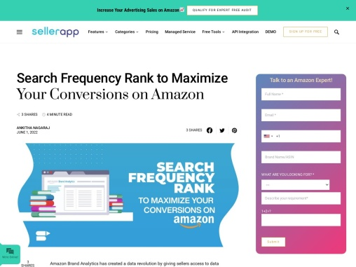 Search Frequency Rank to Maximize Your Conversions on Amazon