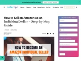 Can You Sell on Amazon as an Individual