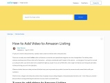 How to upload video on amazon listing