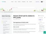 Amazon ACoS and its relation to PPC profits
