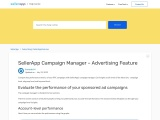 SellerApp Campaign Manager – Advertising Feature