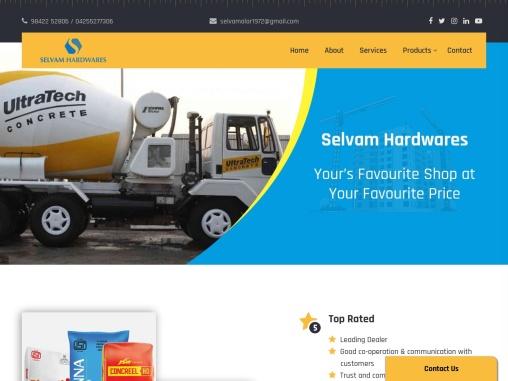 Selvam Hardwares – Cement Dealers in Coimbatore