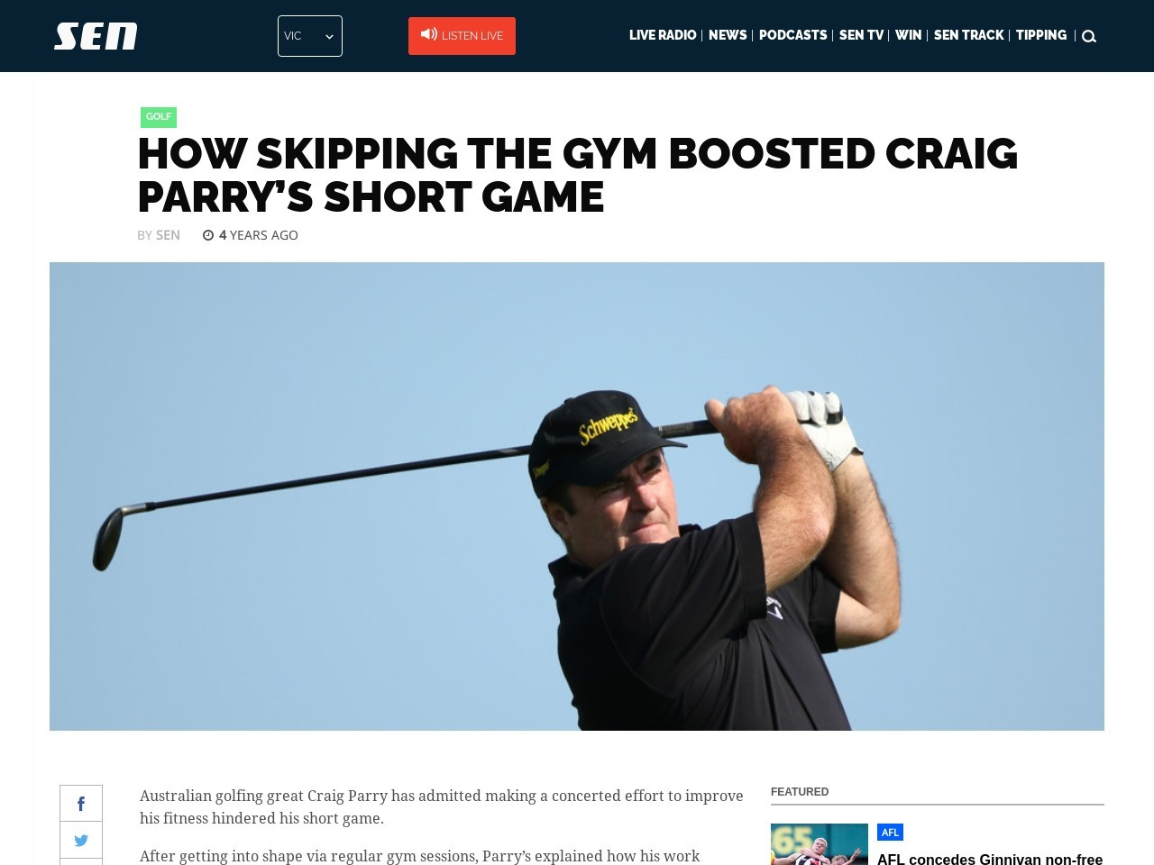 How skipping the gym boosted Craig Parry's short game