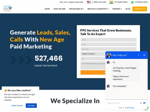 Pay Per Click Management Company   Paid Search Management Agency India   SEO Discovery