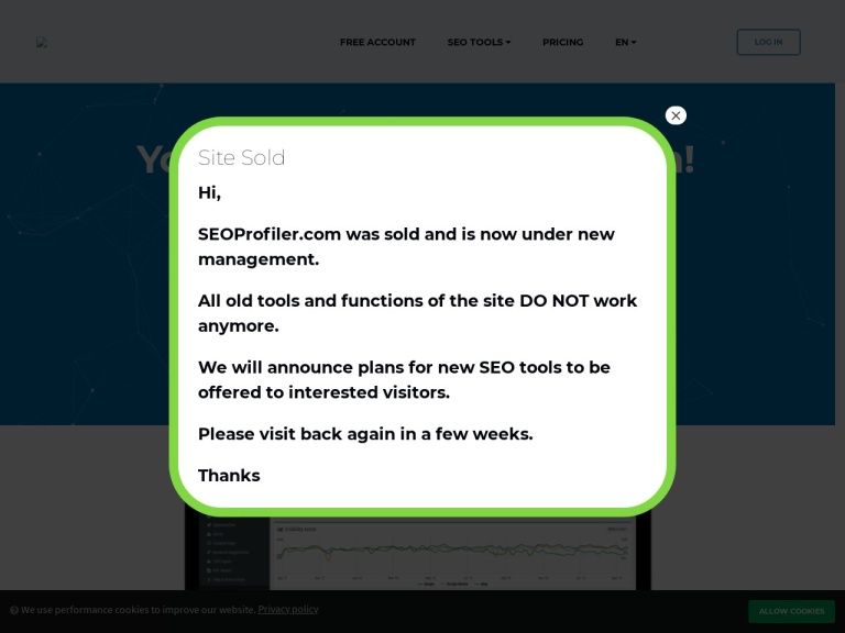 SEOprofiler Discount, Purchase With Excellent Promo in 2019 screenshot