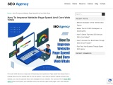 How To Improve Website Page Speed And Core Web Vitals