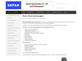 PLATE HEAT EXCHANGERS BY SEPAK