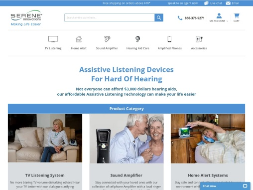 Hard of Hearing-Impaired Products & Accessories for Senior Citizens