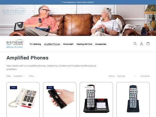 Portable Landline Cordless Phone Amplifier for Hard of Hearing