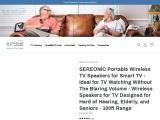 Wireless TV Speakers for Hard of Hearing Senior Citizens – TV SoundBox