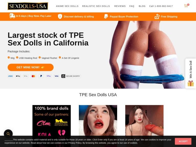 Sex Dolls USA screenshot
