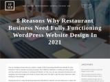 8 Reasons Why Restaurant Business Need Fully Functioning WordPress Website Design In 2021