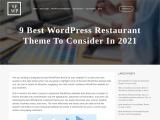 9 Best WordPress Restaurant Theme To Consider In 2021
