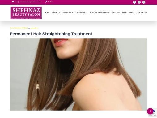 Permanent Hair Straightening Brisbane