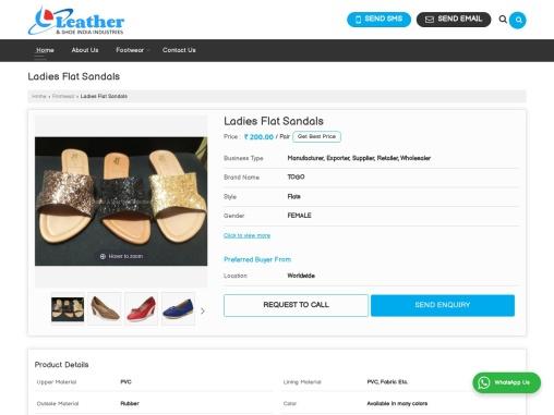 Buy Ladies Flat Sandals at best Price in Kolkata